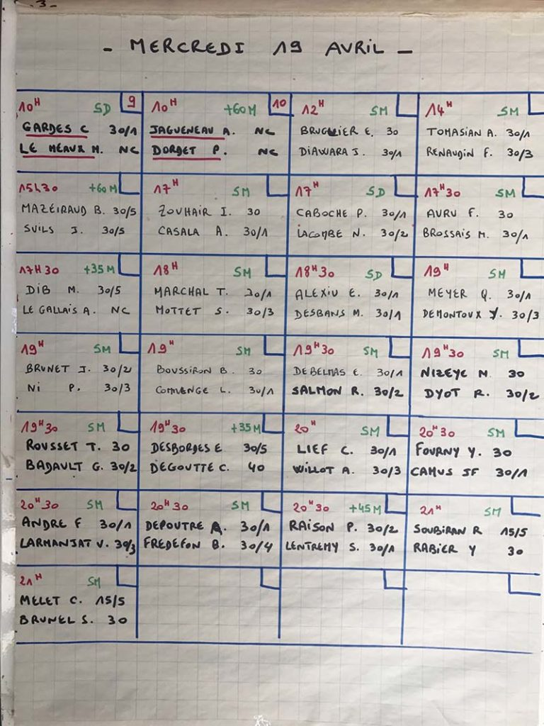 Programme du 19 avril